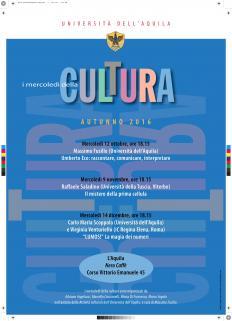 mercoledì cultura autunno 2018