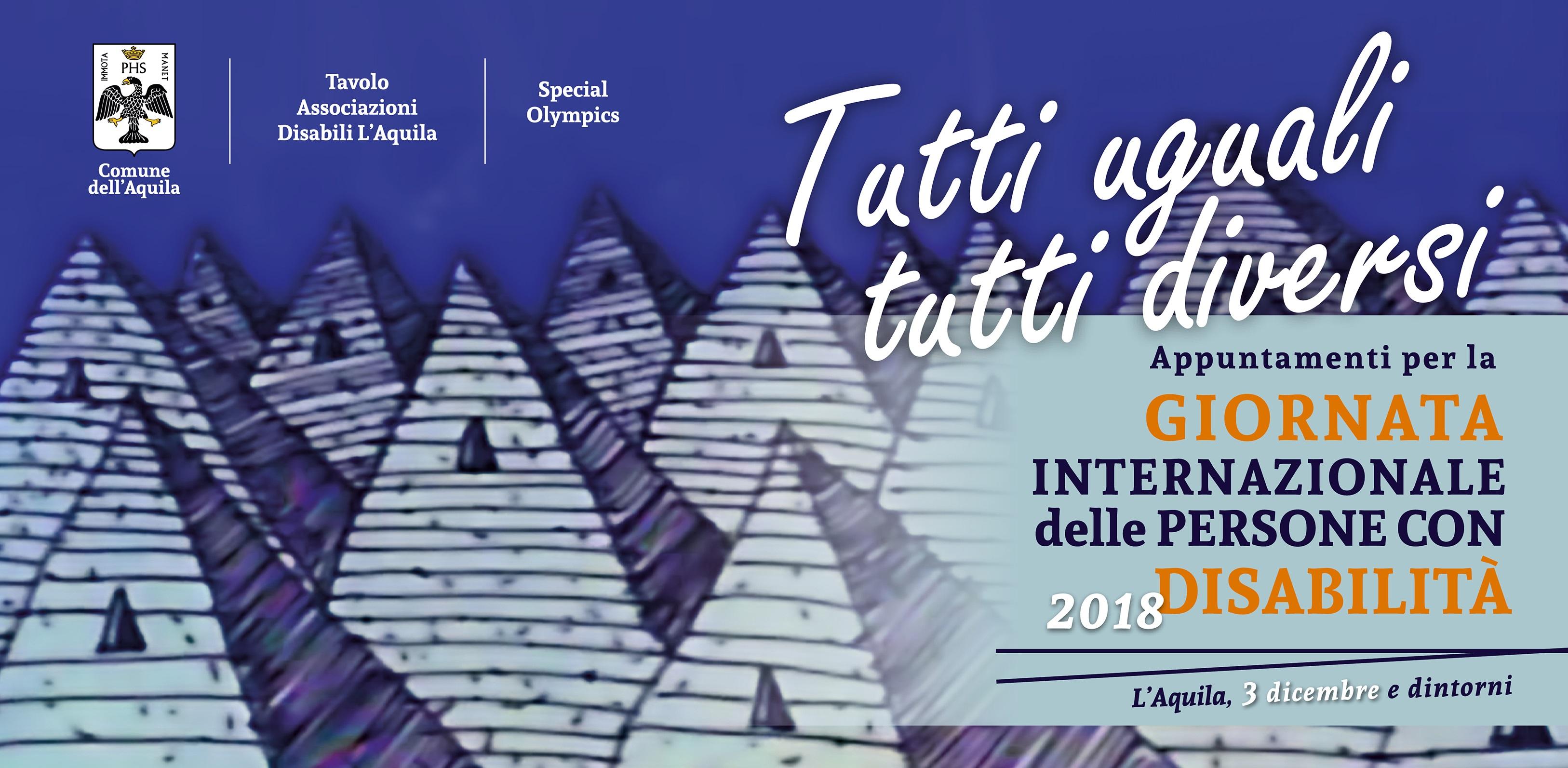 Logo e titolo Giornata Internazionale delle persone con disabilità 2018