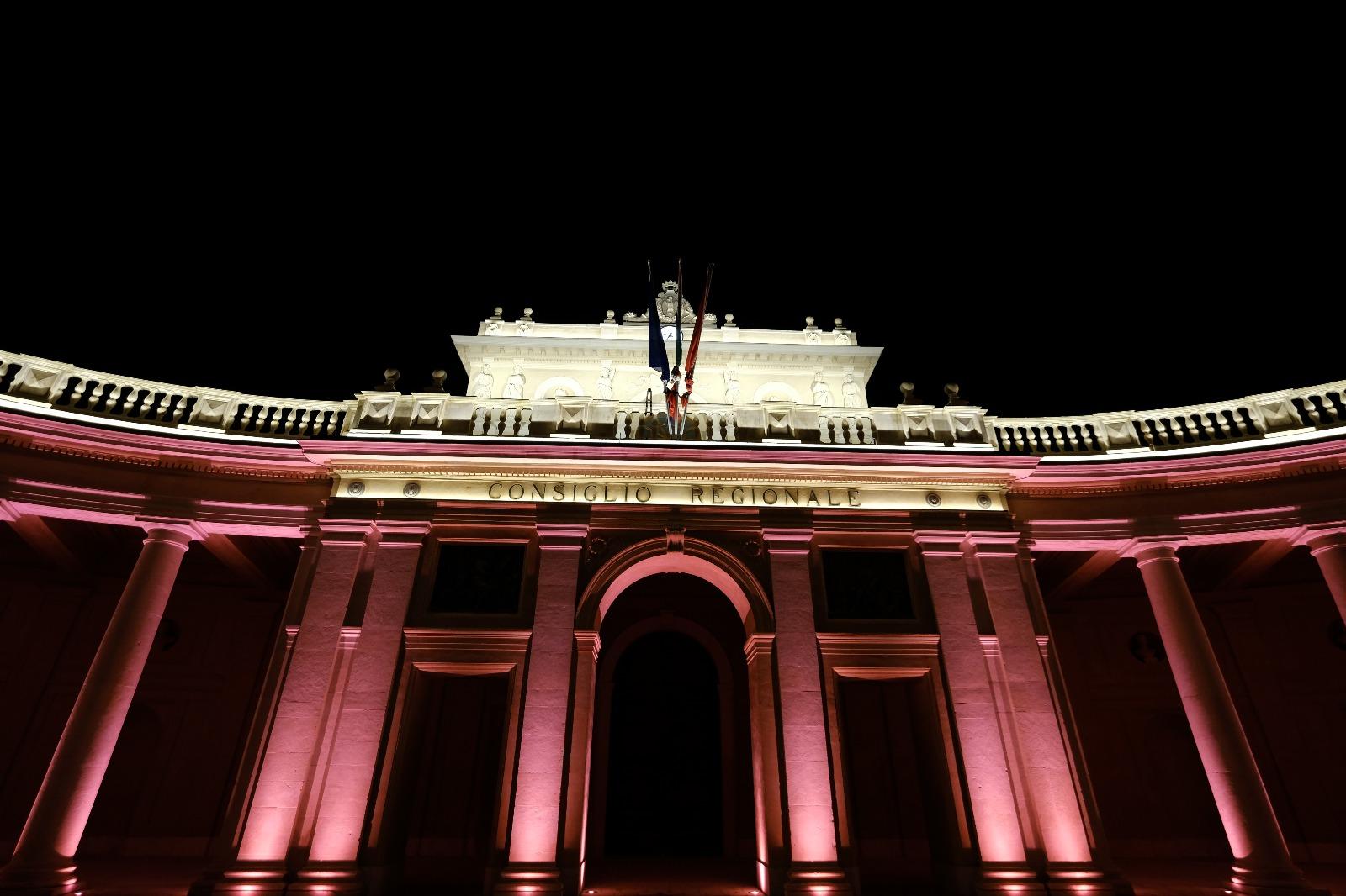 Emiciclo in rosa