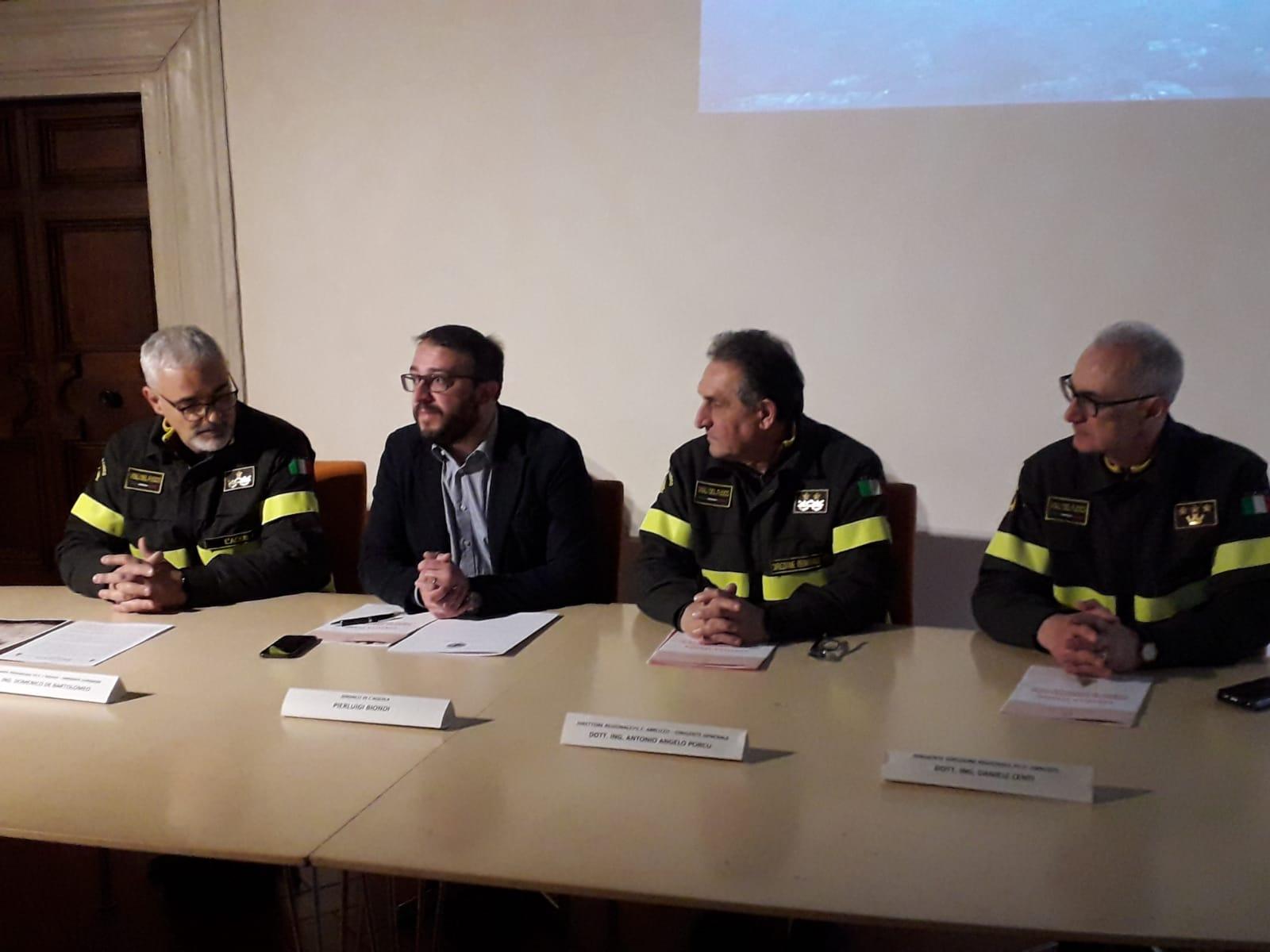 Conferenza stampa Vigili del Fuoco