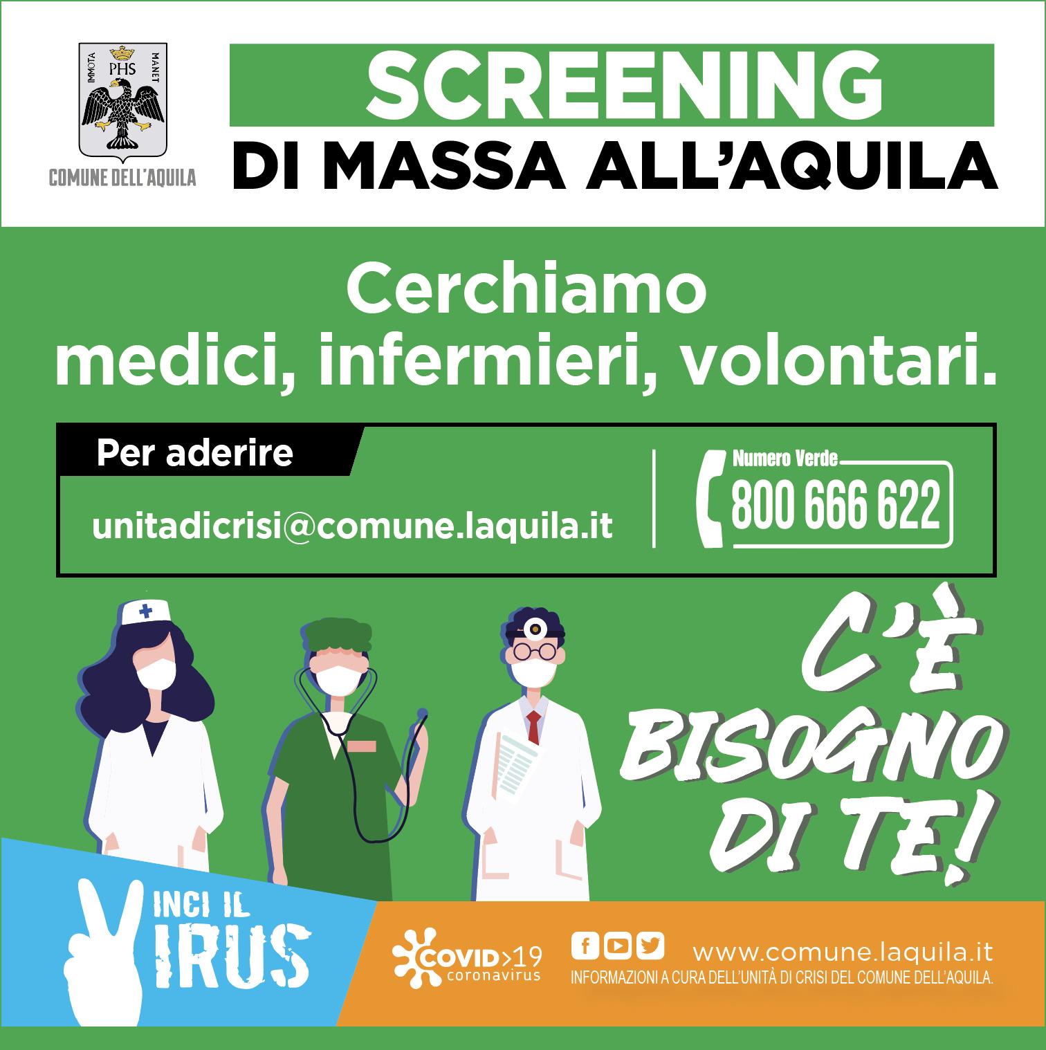 sanitari e volontari per screening