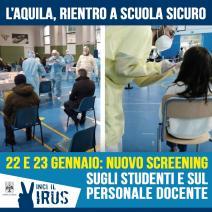 Screening per le scuole (22 e 23 gennaio 2021)