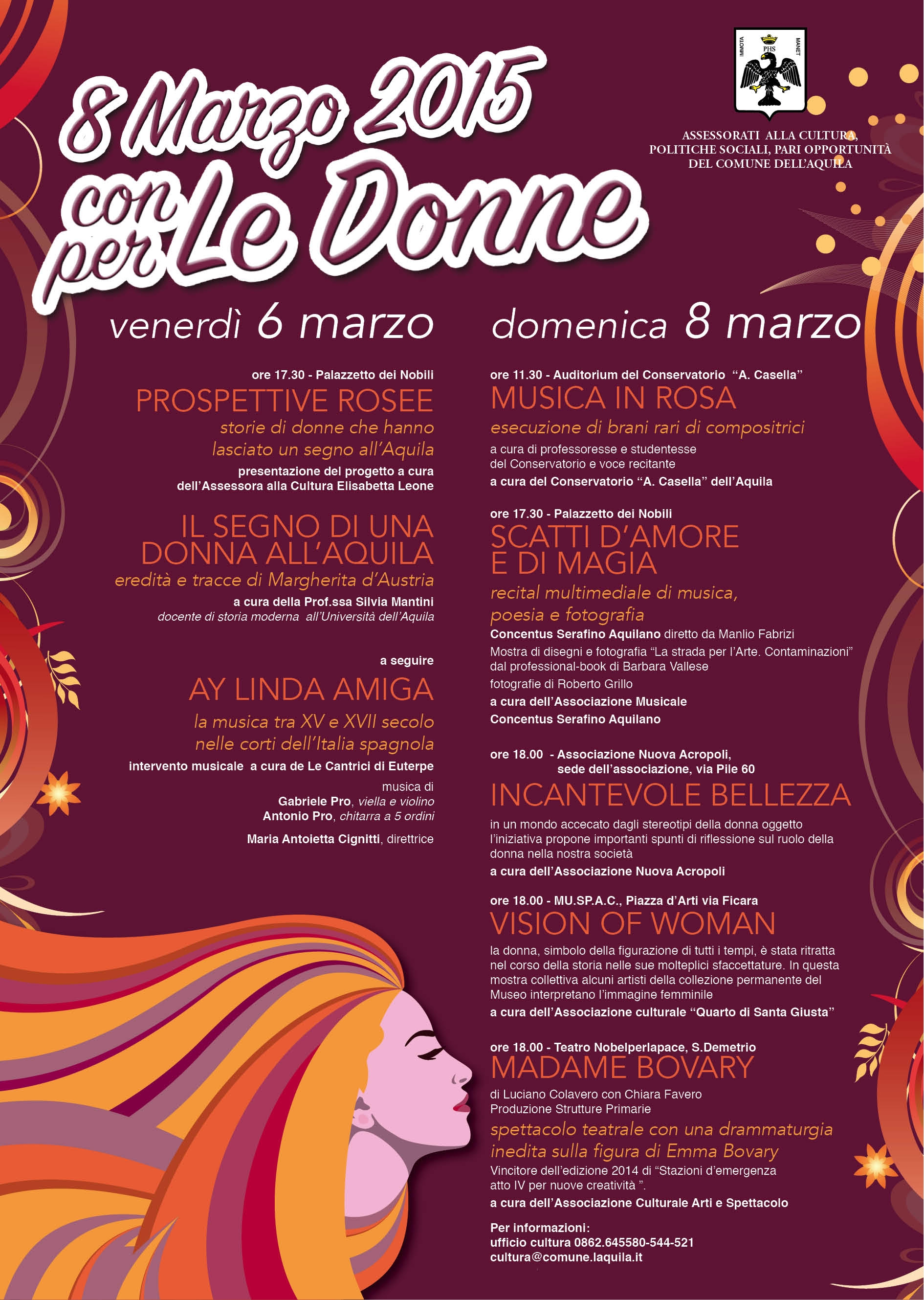 Locandina festa donna 2015