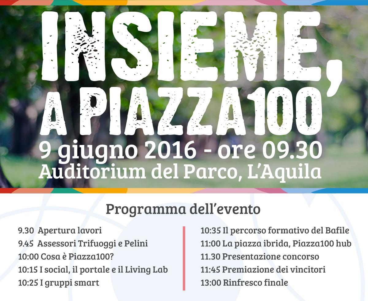 piazza 100 invito