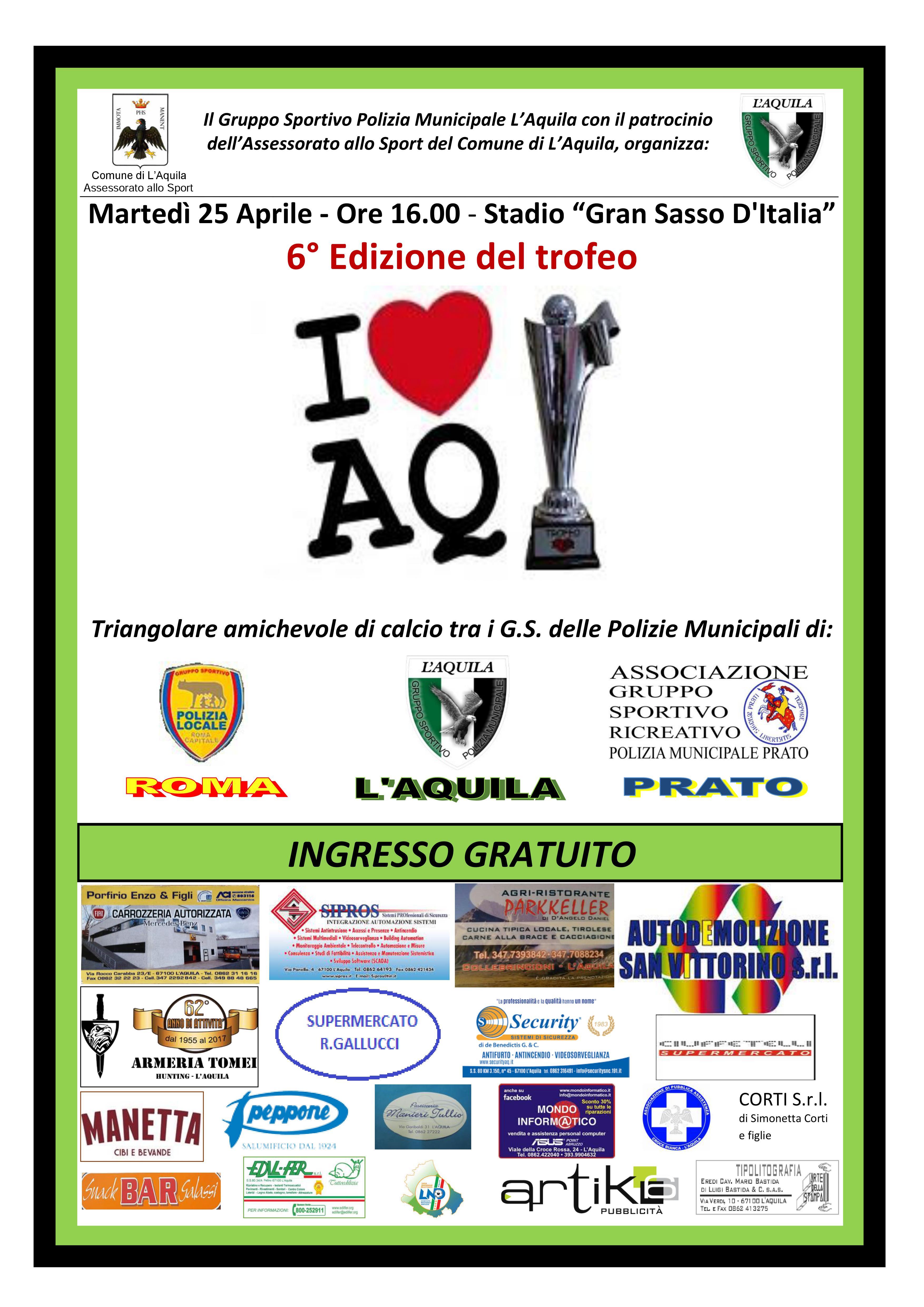6° trofeo I LOVE AQ