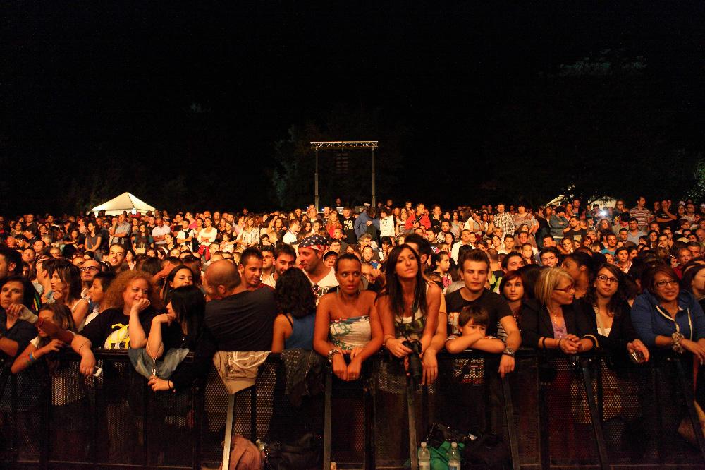 Il pubblico al concerto di Grignani (29 agosto)
